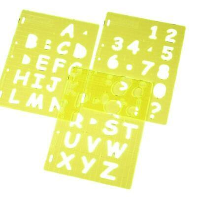 Fiskars Alphabet Uppercase A-Z Letters Numbers Set Stencil Template Shapecutter