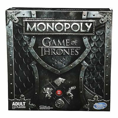 Monopoly Game of Thrones Board Game for Adults - Plays Theme Song - NEW UNOPENED
