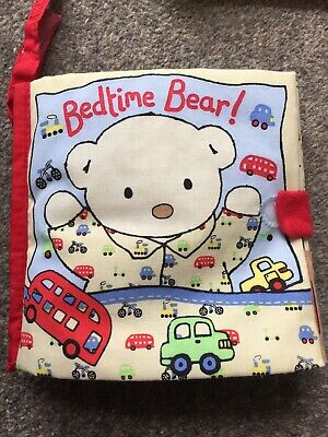 CH5 Jellycat Bedtime Bear Material Crinkle Baby Book