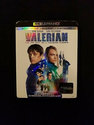 Valerian 4K + Blu Ray W/Slipcover No Digital Copy, Lot H1.
