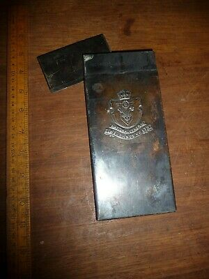 Antique National General Insurance Co.Ltd metal Deed case / metal document case