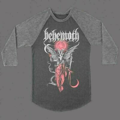 BEHEMOTH Gabriel Raglan 3/4 Long Sleeve T SHIRT M-L-XL-2XL New Kings Road Merch
