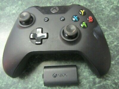 Official Microsoft Xbox One 1537  Wireless Controller Black w/ Rechargeable Pack