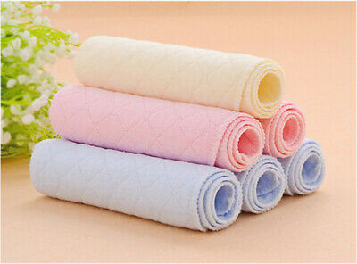 Lot Baby Diapers BBY 10Pcs Inserts 3 Layers Cotton Washable Reusable 46*17cm Hot