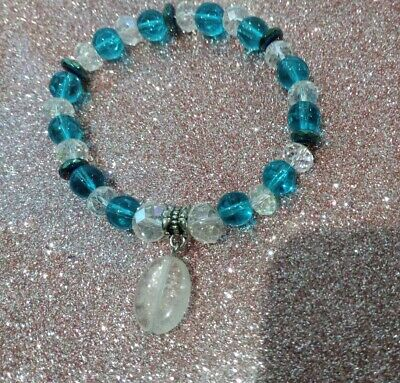 Code 554 Archangel Michael Peace Titanium, Quartz n Crystal Infused bracelet