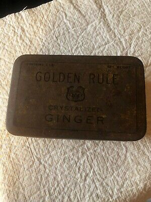 Vintage Golden Rule Crystallized Ginger 1Lb. tin