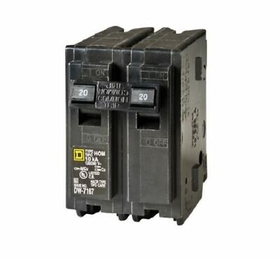 Double Two 2 Pole 60 Amp Square D Breaker DP-3918 HOM 10ka Sixty
