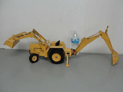 🚧 Ertl Ford 755A Front End Bucket Loader Backhoe Tractor Diecast Toy Truck 1/12