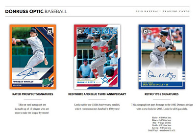 2019 Donruss Optic Hobby Baseball Live Pick Your Player (Pyp) 1 Box Break