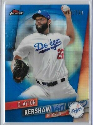 Clayton Kershaw 2019 Topps Finest Blue Refractor #'D 056/150 Dodgers  Wlf122D