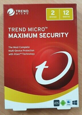 Trend Micro Maximum Security  2 Devices 12 Months