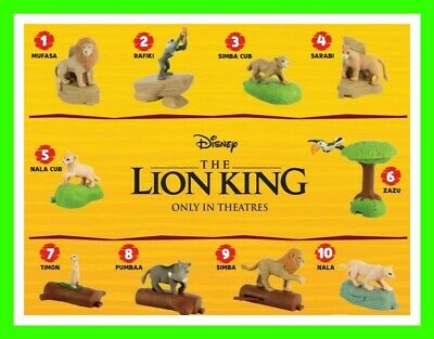 McDonald's 2019 LION KING HAPPY MEAL TOYS 🍟🍔PICK YOUR TOY🍔🍟 $2.84 SHIPPING