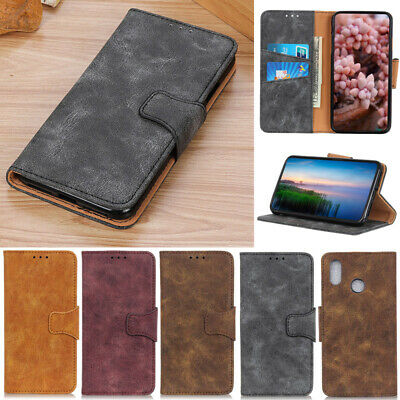 Retro PU Leather Wallet Flip Case Cover For Apple iPhone XR XS Max XS 7 8 Plus X