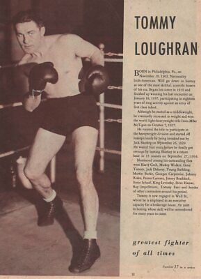 *1930s LIGHT HEAVYWEIGHT CHAMPION TOMMY LOUGHRAN'S SIGNED BOXING HISTORY BOOK*