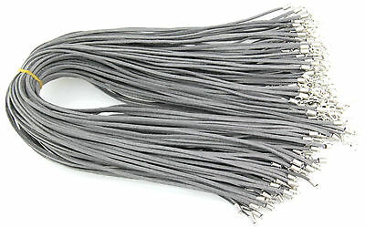 Wholesale 10pcs Gray Suede Leather String 20 inches Necklace Cords