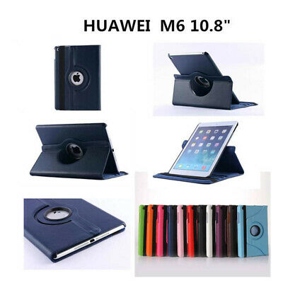 For Huawei MediaPad M6 10.8 Case Leather 360 Rotating Stand Slim Light Cover