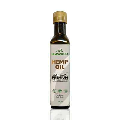 Cold Pressed Unrefined Leawood Hemp Seed Oil Certified Premium