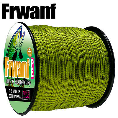 Japanese Super Strong PE Braided Fishing Line Army Green 500M Multifilament Line