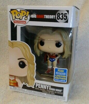 """Funko Pop TV! """"Big Bang Theory"""" Penny as Wonder Woman (835) *SDCC Shared Exc*"""