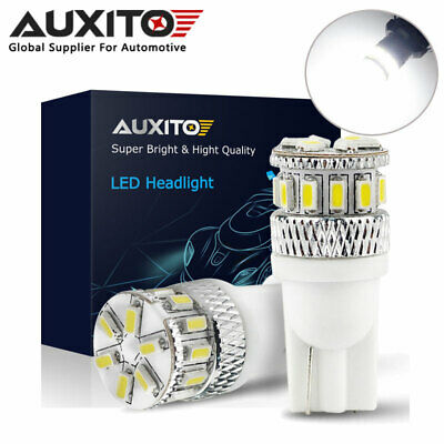 2Xauxito T10 W5W 501 18Smd Canbus Error Free Led Wedge Dome Map Light Bulb White
