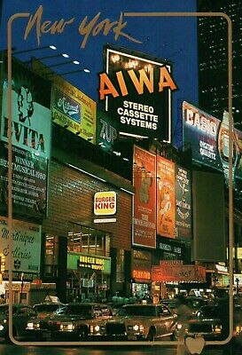 PLEASE READ !! New York City NY - Times Square Burgerking - Continental Postcard