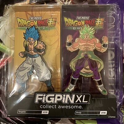 SDCC 2019 Funimation Exclusive Figpin XL Gogeta & Broly Dragon Ball IN HAND