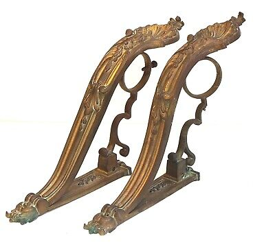 very rare late 1800s french Antique curtain rail holders hooks