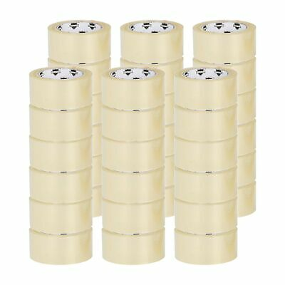 "144 Rolls Carton Sealing Clear Packing Tape Box Shipping - 3 Mil 2"" x 55 Yards"