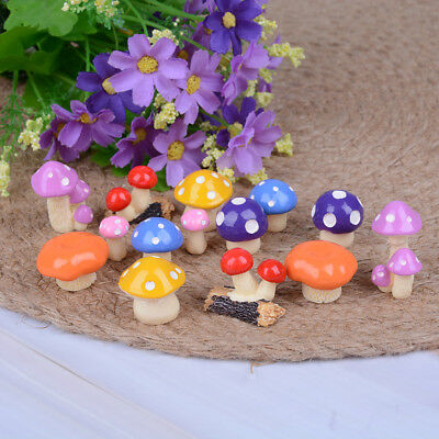 2Pcs DIY mini miniature fairy garden ornament decor mushroom house accessorie Y;