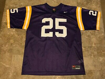 Vintage 90s Nike LSU Tigers NCAA College Football Jersey #25 Youth Size XL Used!