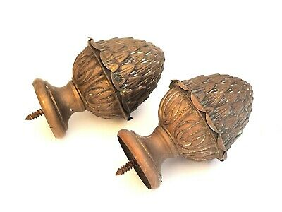 very rare late 1800s french Antique bronze curtain rail ends holders hooks