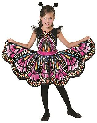 Girls Beautiful Butterfly Colorful Mini Beast Fancy Dress Costume Outfit 4-12yrs