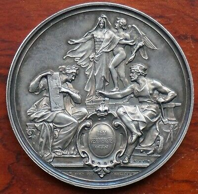 Germany, Agricultural Merit Medal by G.Loos, silver, 50mm. GVF. 57.7gms.