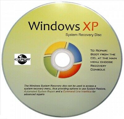 WIN XP 32 Bit System Recovery Software Disc NEW!