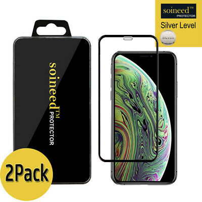 """[2-Pack] Tempered Glass Screen Protector FULL COVER For Apple iPhone Xs Max 6.5"""""""