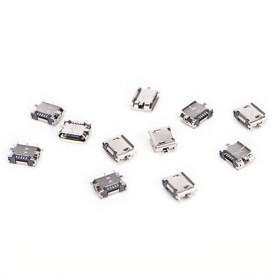 10X Micro USB 5pin B type Female Connector For Connector 5pin Charging Socket Hn
