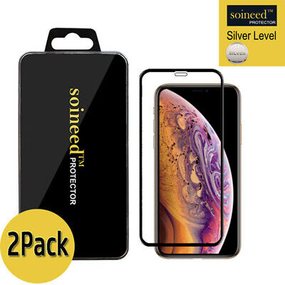 """[2-Pack] Tempered Glass Screen Protector FULL COVER For Apple iPhone X / XS 5.8"""""""