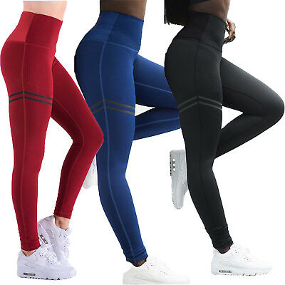 Women Yoga Sports Pants Apparel Leggings Gym Fitness Workout Exercise Trousers