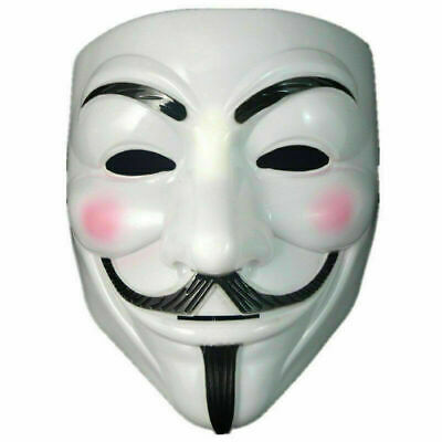 Cosplay Mask Anonymous Hacker Vendetta Guy Face Mask Party Role Play Masks