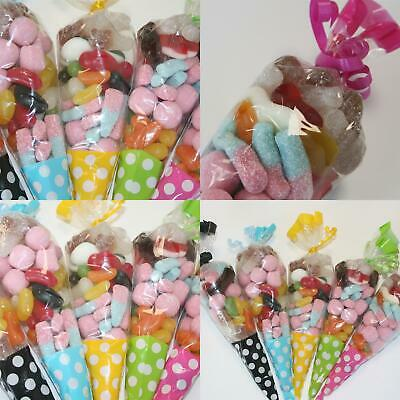 Pre Filled Sweet Cones Party Bags Favours Girls Boys Treats Wedding Baby Shower