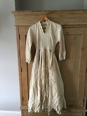 Antique Vintage (wedding) dress historical/theatrical/costume. Needs Restoration