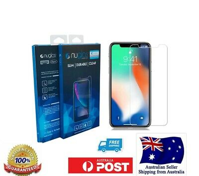iPhone XS Max XS XR X 8 7 6 Plus - NUGLAS Tempered Glass Screen Protector Apple