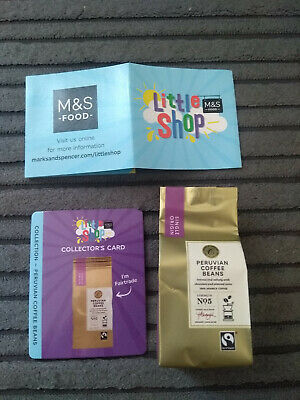 Marks & Spencer M&S Food Little Shop Collectable Coffee Beans Toy Card Free P&P