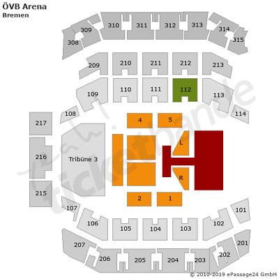 The Kelly Family Bremen Tickets 12.12. Block 112 25 Years Over the Hump