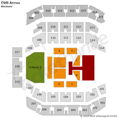 The Kelly Family Bremen Tickets 12.12. Tribüne 3