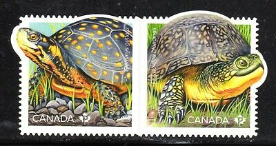 2019 Canada SC-Endangered Turtles - pair die cut from booklet - M-NH
