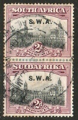South West Africa - 1927 - Two Pence Vertical Pair Fine Used