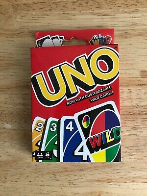 Mattel UNO card Game with WILD CARDS Great Family Fun