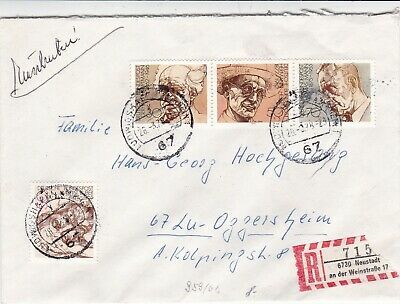 Germany 1978 Winners of Nobel Prize Registered Cover VGC