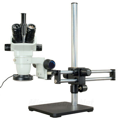 6.7X-45X Zoom Stereo Microscope+Metal Shell 144 LED Ring Light+Heavy Boom Stand
